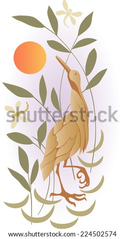 heron - stock vector