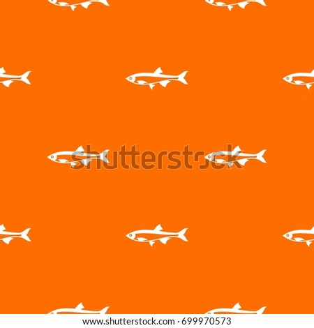 herring fish pattern repeat seamless in orange color for any design vector geometric illustration