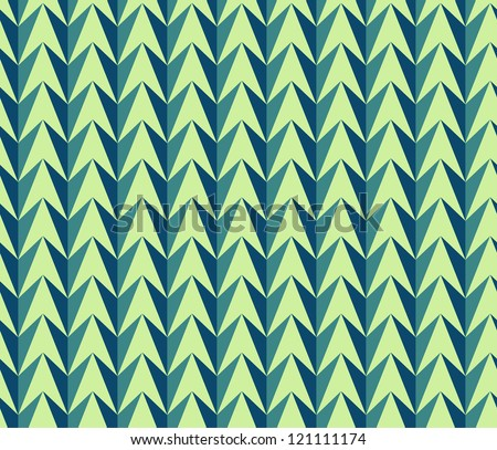 Herringbone Christmas seamless color  pattern with zigzag and triangle - stock vector