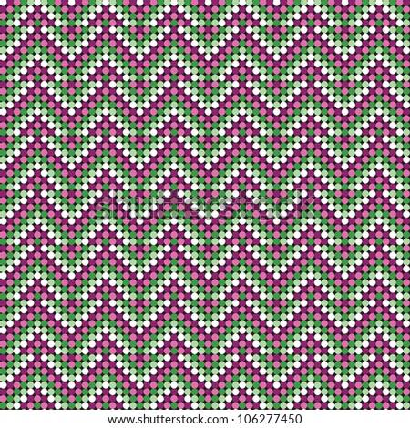 Herringbone Pattern in bright colors repeat seamlessly. / Herringbone Pattern - stock vector