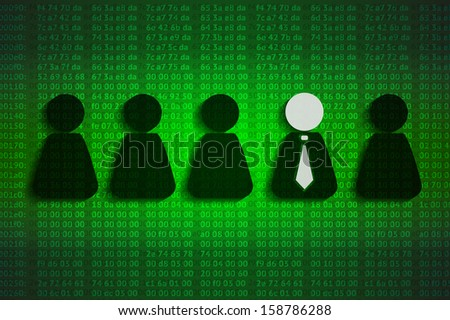 hex background with men, competition concept, eps10 vector - stock vector