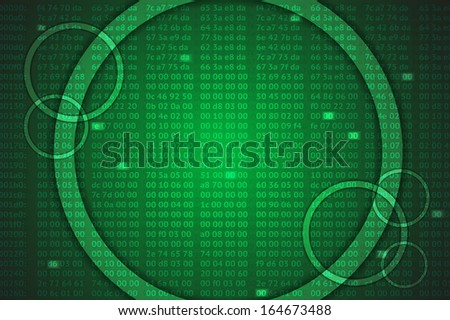 hex codes background with digital tag, creative idea, eps10 vector - stock vector