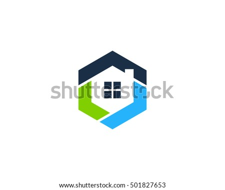 Hexa House Modern Home Logo Design Template Part 83