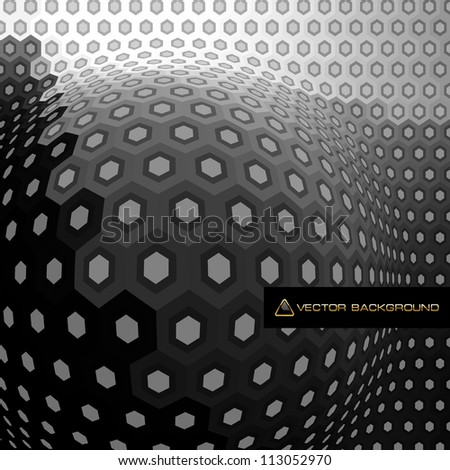 Hexagon abstract background. Vector illustration. - stock vector