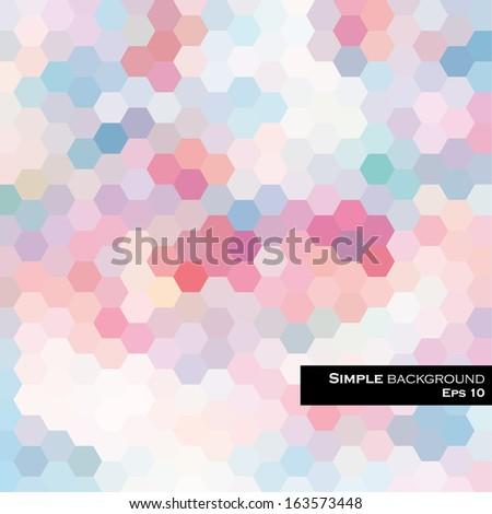 hexagon background - stock vector