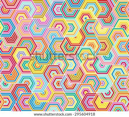 hexagon color pattern - stock vector