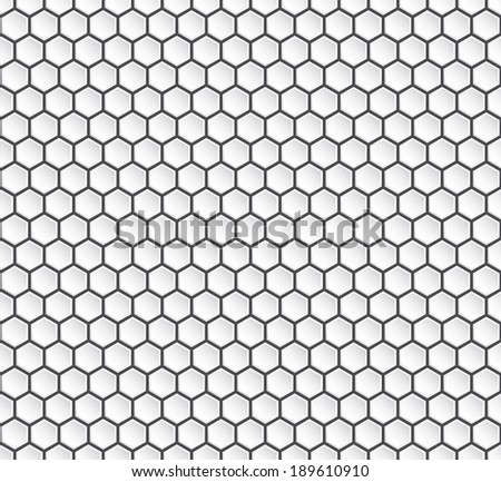 Hexagon geometry, abstract background, seamless vector. - stock vector