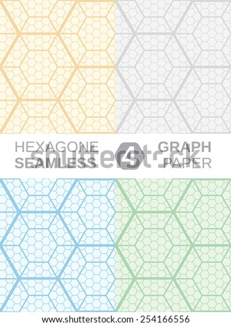 Hexagon Graph Paper Set  Seamless Stock Photo Photo Vector