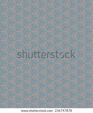 Hexagon grey-blue pattern