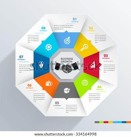 Hexagon modern Infographic design element banner. - stock vector