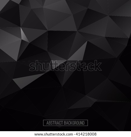 Hexagon pattern. Abstract background. design element for business card, flayer, banner, poster. Black and white background. Triangle polygon pattern - stock vector