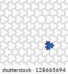 hexagon puzzle - stock vector