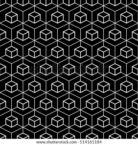 Hexagon seamless background.