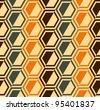 Hexagon seamless pattern background - retro colors - vector - stock vector