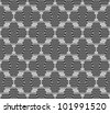 Hexagon seamless pattern with lines - stock vector