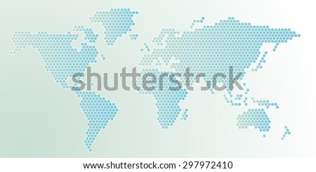 Hexagon shape world map abstract blue stock vector 297972410 hexagon shape world map abstract blue background gumiabroncs Gallery