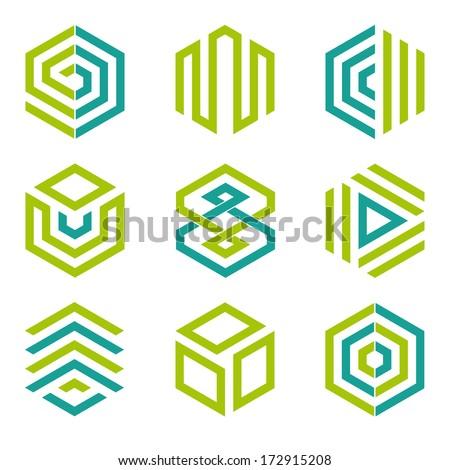 Graphic Designers Logos Hexagon Shaped Logo Design
