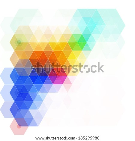 hexagonal colorful abstract design - stock vector