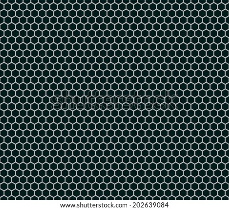 hexagonal grid seamless pattern with small cell - stock vector