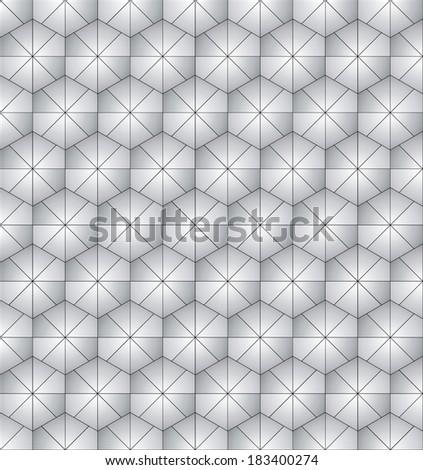 hexagonal wallpaper design - stock vector