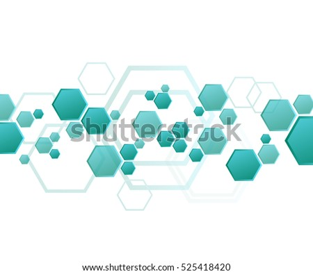 Hexagons, abstract background geometric background