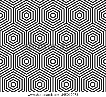 Hexagons pattern, honeycomb texture, abstract geometric background, vector illustration - stock vector