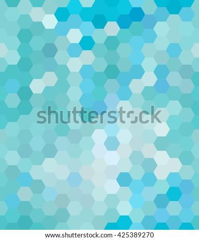 Hexagons Seamless Pattern Background Vertical Vector Illustration - stock vector
