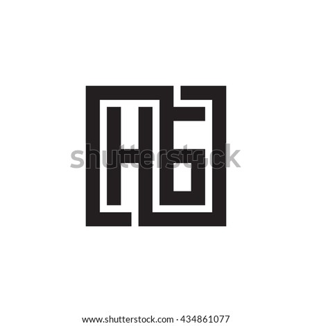 HG initial letters looping linked square monogram logo