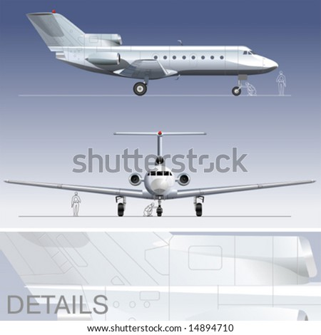 Airplane blueprint stock images royalty free images vectors hi detailed vector illustration passenger business jet eps 8 separated by layers malvernweather Choice Image