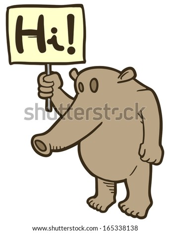 Hi message - stock vector