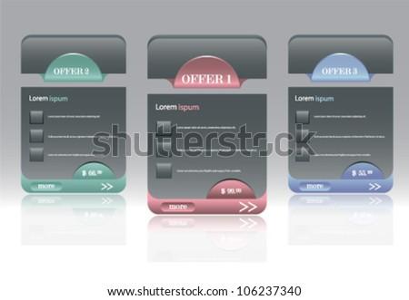 Hi quality modern web elements design - stock vector