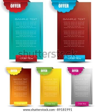 hi quality web banners best for advertisement and sale - stock vector