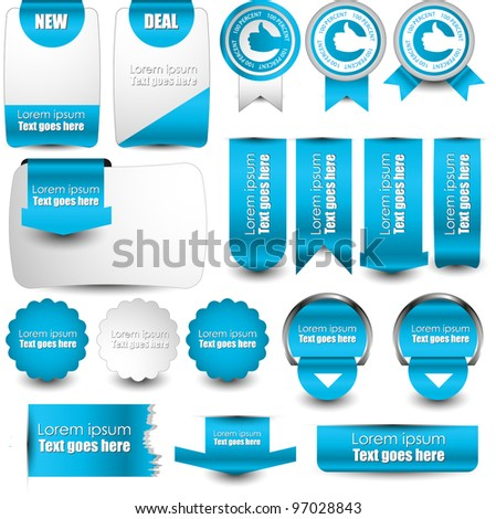 hi quality web elements pack - stock vector