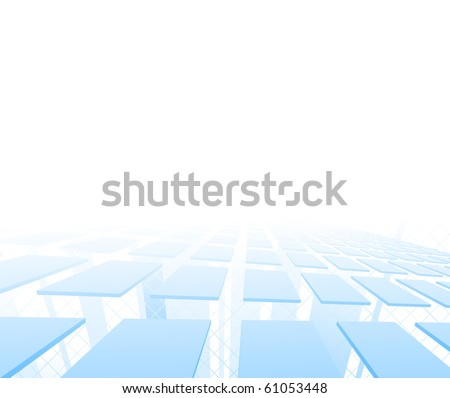 Hi-tech background with tiles. Vector illustration - stock vector