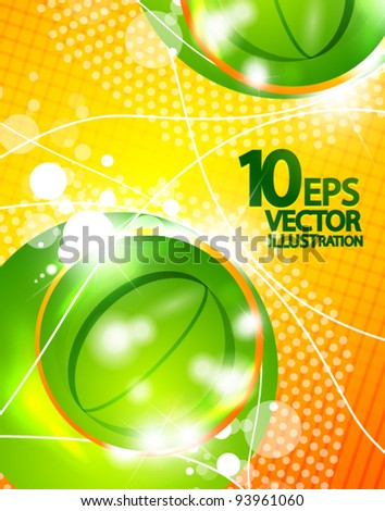 Hi-tech bubble vector abstract background - stock vector