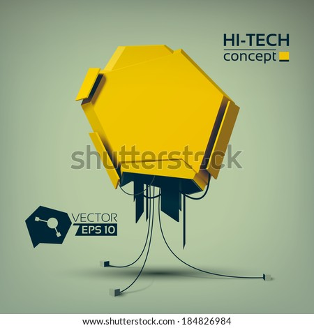 Hi-tech design concept. Background. Vector Illustration, eps10, contains transparencies. - stock vector