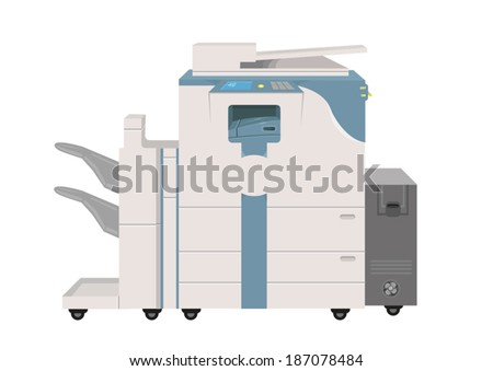 Hi-tech Photocopier Machine. EPS10 Vector Illustration.    - stock vector