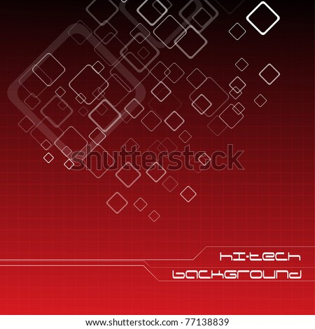 Hi-tech red background. Clip-art - stock vector