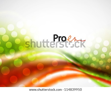Hi-tech smooth wave motion background - stock vector