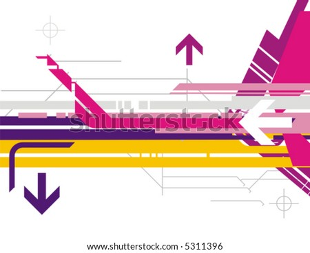 Hi-tech vector background series with arrow details.
