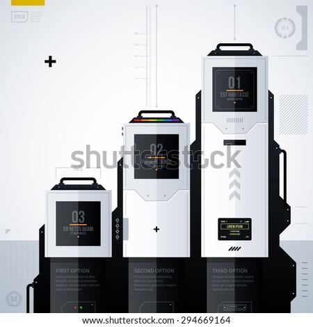 Hi-tech vector template. EPS10 - stock vector