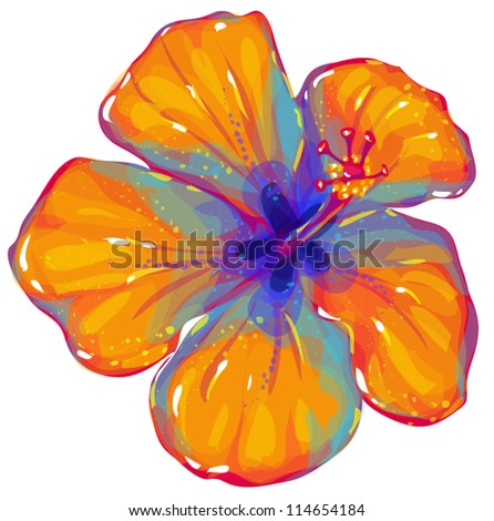 hibiscus seamless pattern - stock vector