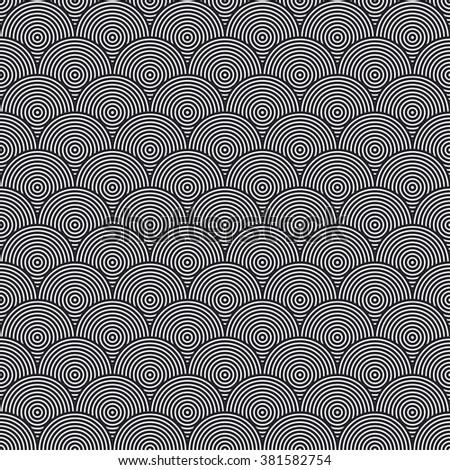 Hidden Circles Seamless Pattern Vector Illustration - stock vector