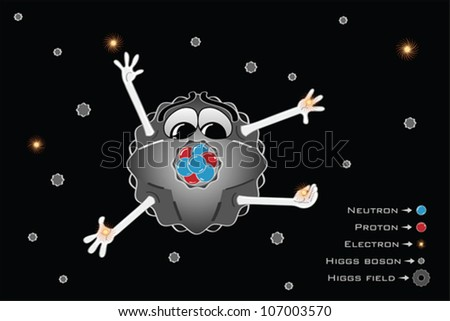 Higgs field and Higgs bosons - stock vector