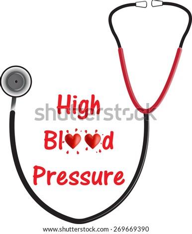High Blood Pressure - stock vector