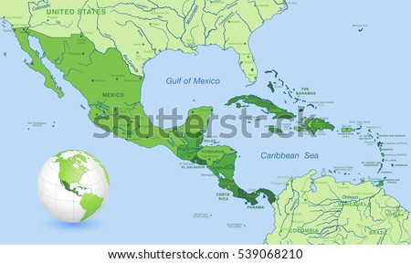 Caribbean Map Stock Images RoyaltyFree Images Vectors - Map of the carribean