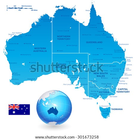 Australia Map Stock Images RoyaltyFree Images Vectors - Map of western australia with cities