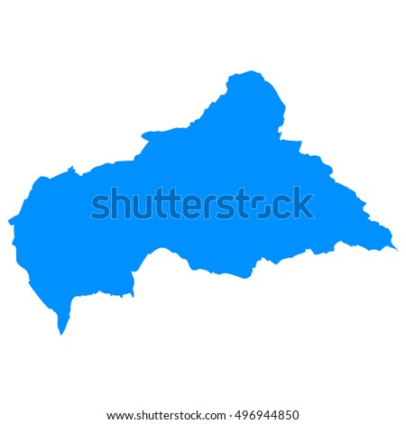 High detailed blue vector map - Central African Republic