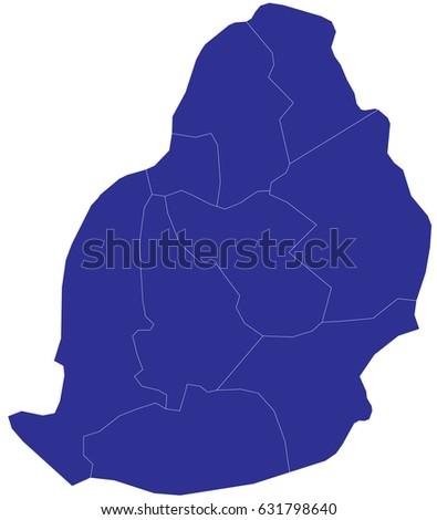 Mauritius Map Stockbilder Und Bilder Und Vektorgrafiken Ohne - Detailed map of mauritius