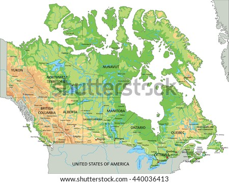 Physical Map Stock Images RoyaltyFree Images Vectors - The united states and canada physical map